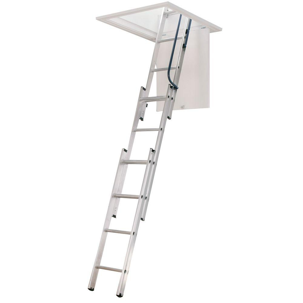 Werner 7 Ft 9 Ft 18 In X 24 In Compact Aluminum Attic pertaining to size 1000 X 1000
