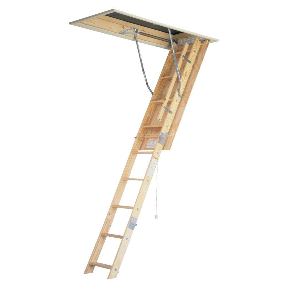 Werner 8 Ft 10 Ft 225 In X 54 In Wood Universal Fit Attic within size 1000 X 1000