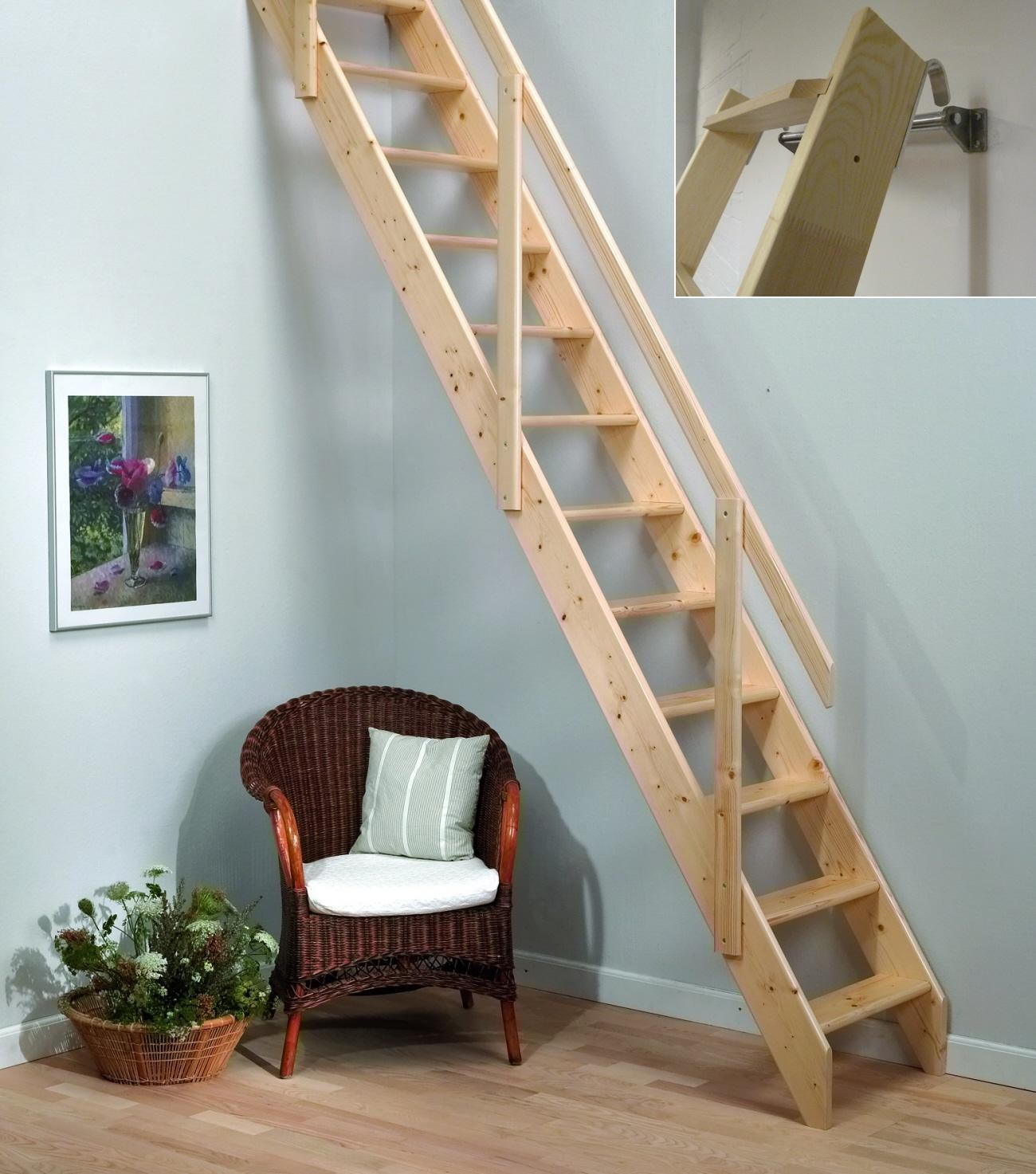 Wood Attic Ladder Small Opening Quickinfoway Interior Ideas for sizing 1300 X 1473