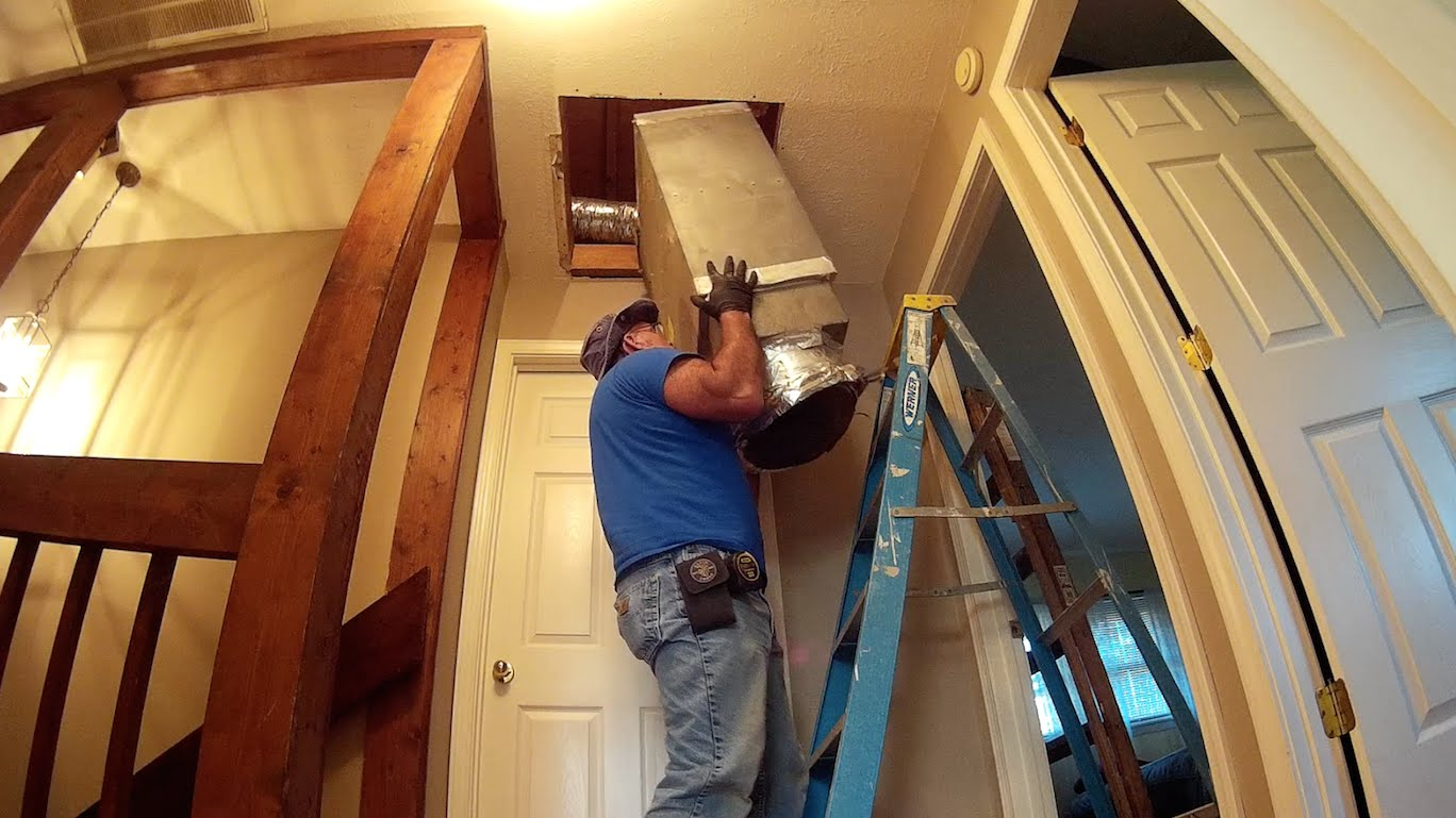 54 Attic Furnaces Heating System Home Maintenance Remodeling with regard to measurements 1368 X 769