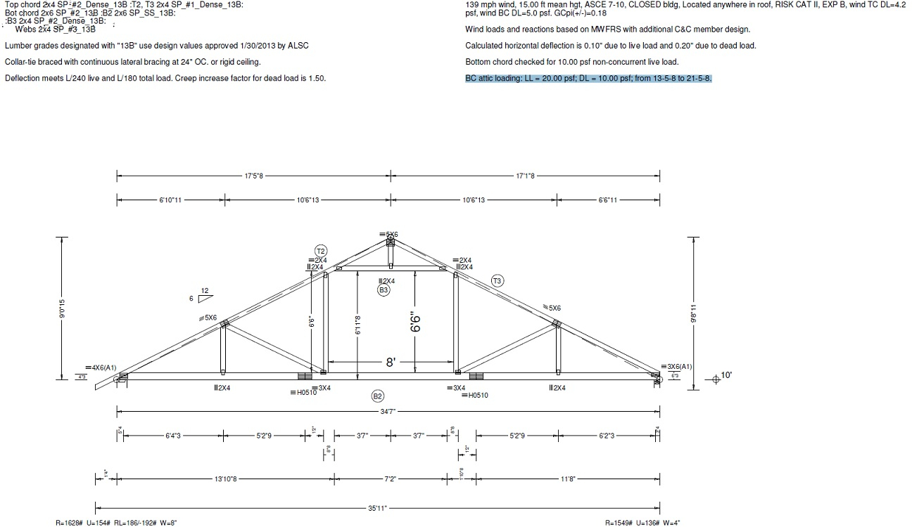Attic Trusses Maximum Span Related Keywords Suggestions Storage with proportions 1296 X 750