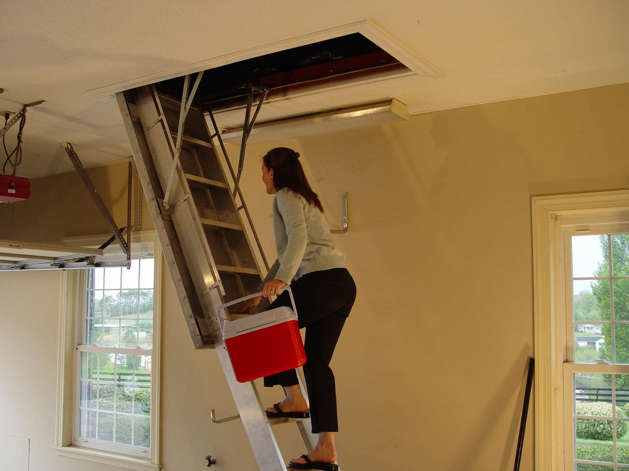 Basic Pull Down Attic Stairs Tips Latest Door Stair Design within size 2560 X 1920