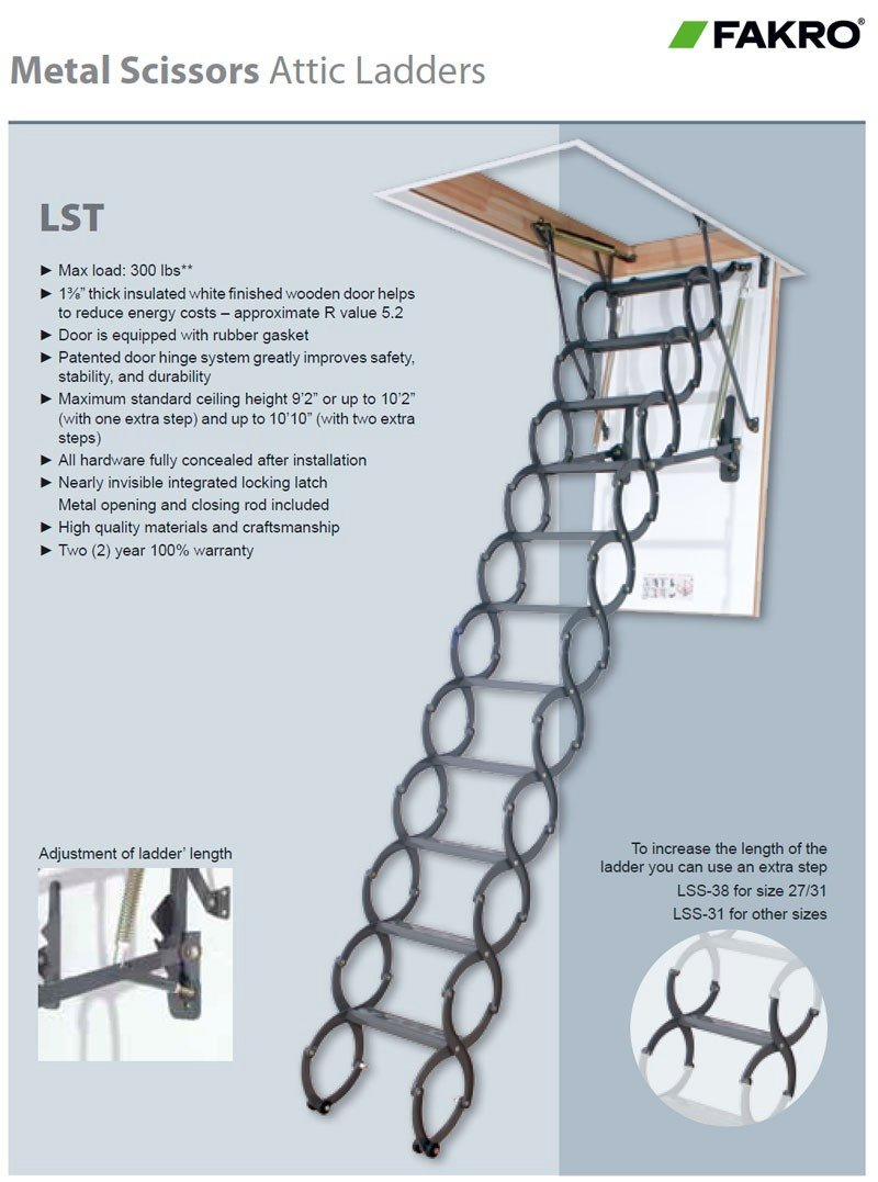 Beautiful Fakro Attic Ladder 15 10 Foot Ladder For Attic Ceiling within proportions 800 X 1077