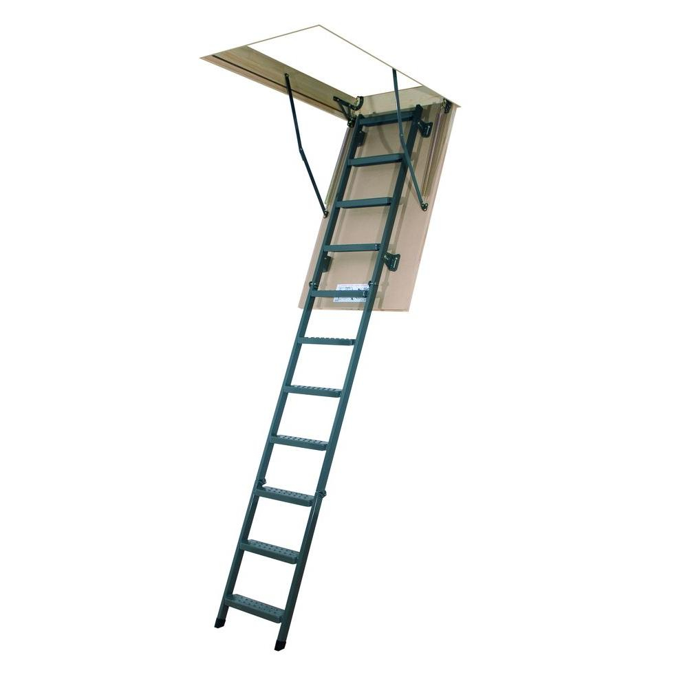 Fakro Lms 10 Ft 25 In X 54 In Insulated Steel Attic Ladder with regard to sizing 1000 X 1000