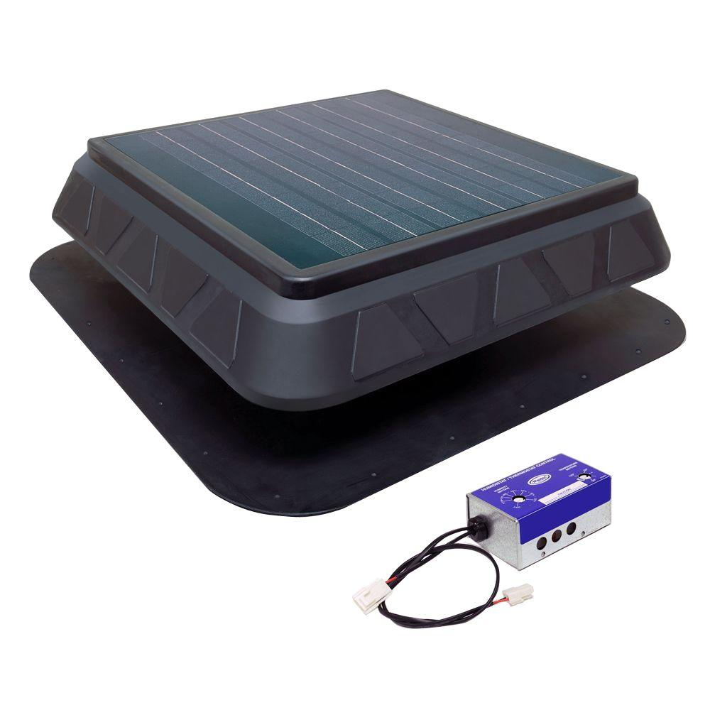 Master Flow 750 Cfm Low Profile Solar Powered Roof Mount Exhaust pertaining to size 1000 X 1000