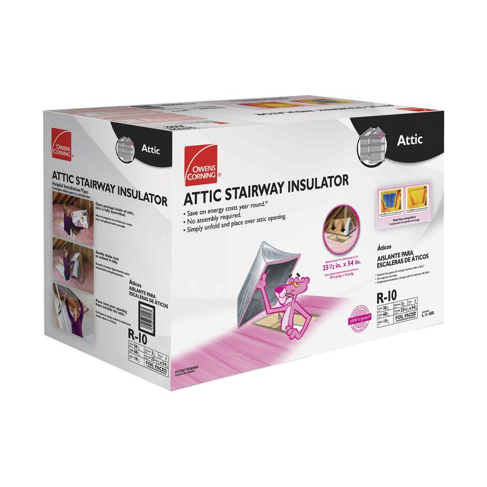 Owens Corning Attic Stair Insulator Ii 25 12 In X 54 In As2 pertaining to measurements 1000 X 1000