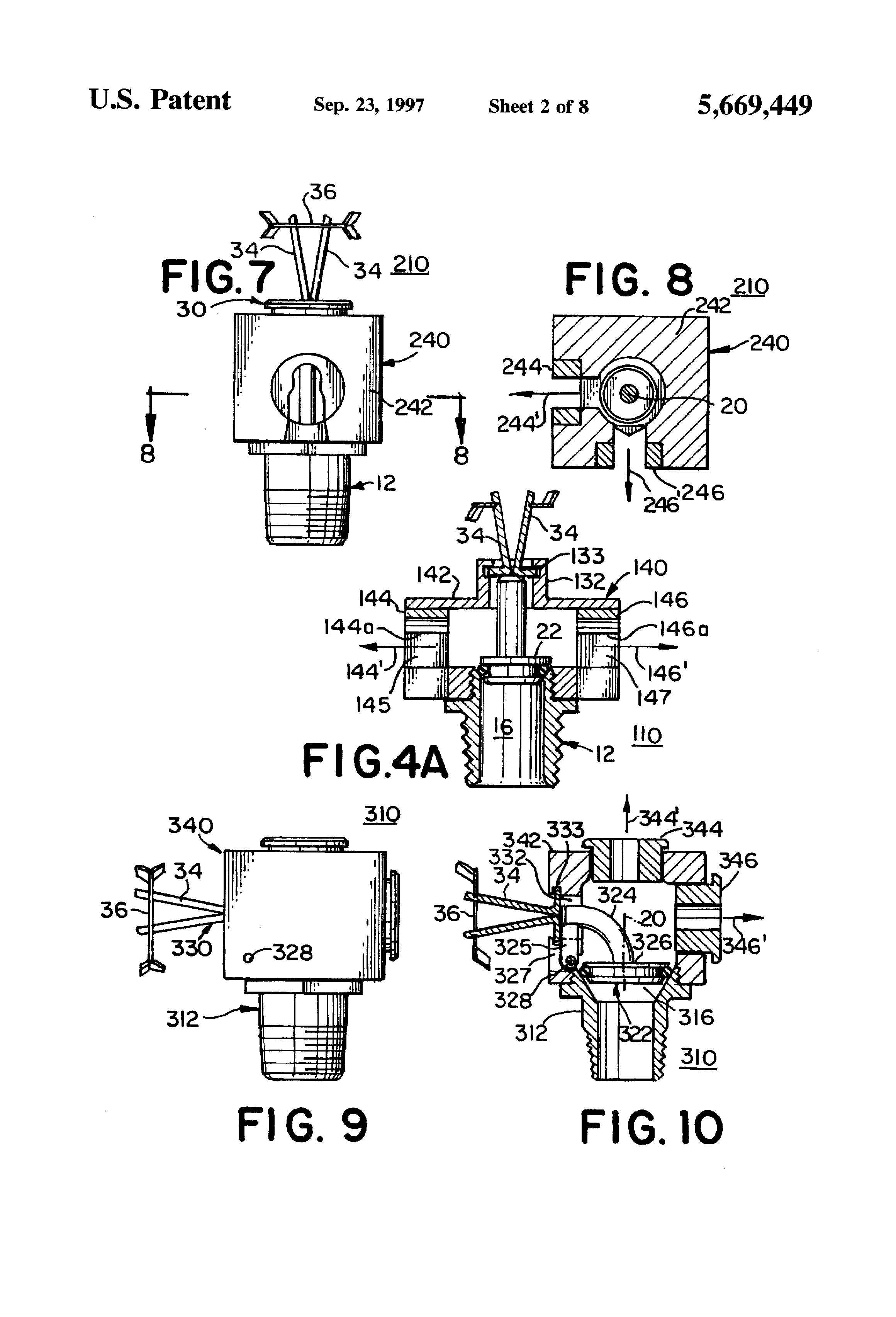 Patent Us5669449 Directional Sprinklers Google Patents in dimensions 2320 X 3408