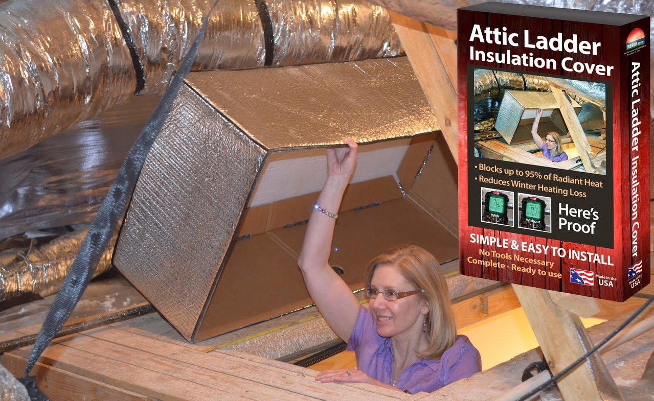 Reach Barrier 3139 Reflective Air Attic Ladder Insulation Kit for proportions 1279 X 785